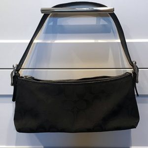 Coach Canvas Logo Purse - Black